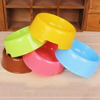 Cheap Wholesale-Dogs Cats Pet Portable PlasticTravel Feeding Bowl Durable Water Dish Feeder Pet Bowl