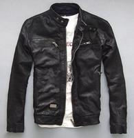 Wholesale Fall Factory Men s Genuine Leather Jacket For Men Real Matte Goat Skin Sheepskin Fashion Brand Black Motorcycle Biker Male Coat ZH031