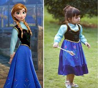 TV & Movie Costumes Teenage People High Quality Frozen anna princess character costume dress christening birthday party dresses anime cosplay kids
