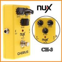 al por mayor nux pedales-Guitarra de calidad superior NUX CH-3 Violao Guitarra Efecto eléctrico Pedal Chorus Ruido bajo BBD True Bypass Instrumento musical amarillo