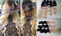 Brazilian Hair Body Wave Hair Extension Hot selling Grade7A 3pcs lot #1b 613 blonde two tone human hair body wave ombre braizlian virgin hair free shipping