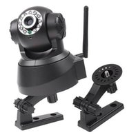 Wholesale IP Cameras Night Vision IR Web Camera WiFi Wireless IP Camera white black color PA