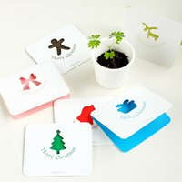 Wholesale Mixed styles The lovely and beautiful mini Christmas greeting cards Greeting cards birthday cards All kinds of greeting card H0135