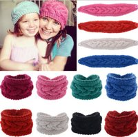 hair fall - 2015 Fashion Spring Fall Winter New Knit Woman Girls Headbands Girl Lady Students Weave Flower Solid Color Headband Hair Stick D3713