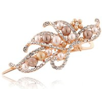 beak clips - Hairpin accessories duckbill clip horn clip beak clip hair maker Large pearl rhinestone