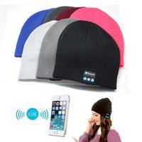 Wholesale Soft Warm Beanie Hat Wireless Bluetooth Smart Cap Headphone Headset Speaker Mic