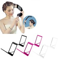 Wholesale 1 pc Compact folds Mirror Panel Expandable Makeup Mirror Four Sides with Case