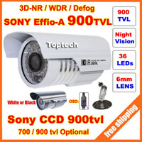 Cheap HD Security Sony Effio-E 700tvl, -A 900tvl CCD 960H OSD menu 36 leds IR 30 meters outdoor surveillance CCTV Camera with bracket A5