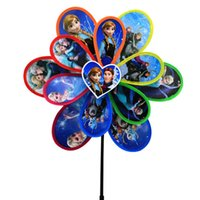 Wholesale NEW Froze Windmill Double Cartoon windmill Frozen Colorful windmil