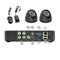 al por mayor sistemas de cámaras de seguridad hogar al aire libre-Cámara de seguridad casera al aire libre del hogar del sistema de las cámaras de seguridad del CCTV del NUEVO 4CH DVR 1300TVL 6MM del envío libre