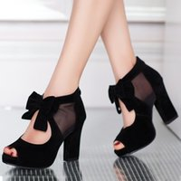 high heel sandals - Rilihong Women s Shoes Chunky Heel High Heel Sandals Heels Peep Toe Platform Sandals Pumps Heels Dress Casual wieh Bowknot Black