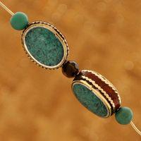 artisan beads - Tibetan Jewelry BD163 Nepalese Artisan Handmade Turquoise Beads from Nepal Creations