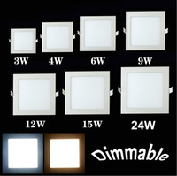 Wholesale Hot selling W W W W W Cree smd2835 panel Square Recessed led ceiling light panels Dimmable lamps