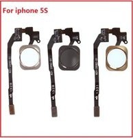 Wholesale For Apple iphone s Home Button Flex Cable Ribbon Assembly Gold Black White With tracking Number