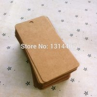 Wholesale Brown Rectangle Paper Tag Wedding Party Gift Bag Name Label