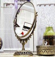bedroom furniture vanities - South Korean imports of purchasing sophisticated complex bronze mirror vanity mirror desktop double sided Queen