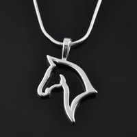 animal necklaces - Top selling sports necklaces for gift rhodium elegant horse head custom animal Snake Chain pendants necklaces