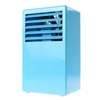 small fans - 2015 Portable Small Table Air Conditioner Fan Touch Control Speed Desk Air Conditioning Fan EGS_708