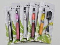 Cheap Ego ce4 blister kits CE4 atomizer Electronic cigarette e cig ce4 starter kit 650mah 900mah 1100mah EGO-T battery E-cigarette kit DHL free