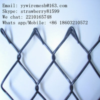 Wholesale Wrapped Chain Link fence Easy to Install Galvanized Or Mild Steel Iron Wire Material mm mm mm Opening