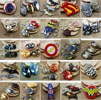 Wholesale 48 Styles Marvel Avengers Superhero Keychains Captain America Flashman Superman Batman Ironman Spiderman Trans Former Autobot Key Chains