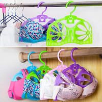Wholesale Wholesales Bra Drying Underwear Hangers Plastic Clothes Rack Hanger Storage Lingerie Hanger Clothes Drying Rack JE0141 Salebags