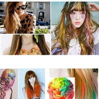 Wholesale Colors Non toxic Temporary Salon Kit Pastel Square Hair Chalk Beauty Hari Colors Pastel Chalk Use for hair ZW224