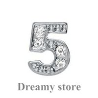 Wholesale 2015 New Arrival Bestseller Numbers Five Design Floating Locket Charm Number Floating Charm High Quality Hotsale Charm