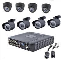 Wholesale Via DHL EMS H CH DVR X1300TVL CCTV Home Security IR MM Indoor MM Outdoor Night Camera With IR CUT Home Alarm System