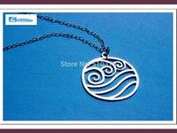 avatar the legend of korra - Famous Brand Jewelry Silver Chain AVATAR The Last Airbender Legend of Korra WATER Symbol Necklace Bijoux Medusa Boho Neckless