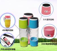 Wholesale New Arrival ml Water Bottle mAh Mobile Power Bank Bluetooth Speaker