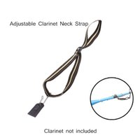 Wholesale Light weight Compact Adjustable Clarinet Neck Strap Cotton with Metal Hook Leather Piece Clarinet Accessories