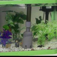 Wholesale Aquarium Fish Tank Battery Gravel Cleaner Filter Washer Auto Pump Siphon Vacuum Water Change New Aquarium Accessories