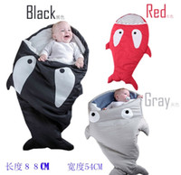 baby stroller bag - 1pcs shark sleeping bag Newborns sleeping bag Winter Strollers Bed Swaddle Blanket Wrap cute Bedding baby sleeping bag D6165
