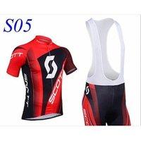 Wholesale Factory Selling NEW SCOTT Short Sleeve Cycling Jersey and Cycling Bib Shorts Kit SCOTT Cycling Clothing Set SIZE XS XXXXL S5