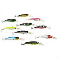 Wholesale Colorful Plastic Minnow Bass Fishing Lure Hard Bait Tackle cm quot Baits Lures Fishing Tools DHL