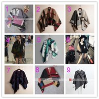 Wholesale hoge kwaliteit originele uitgave heet verkoop vrouwen cape poncho en plaid deken mantel cape poncho sjaal uitloper jas gratis verzending