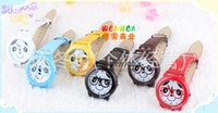 watch silicon gel - children panda wristwatches baby kids cute EP silicon gel watch with glasses panda student lover watch J112106