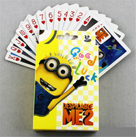 Wholesale party decoration Card Games Animation poker Despicable Me Minions poker cards Minions the surrounding poker cartoon toys for Christmas