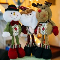 Wholesale Lovely Santa Claus Reindeer Christmas Decorative Snowman Statue Ornaments SV009899