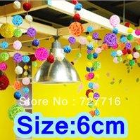 Wholesale cm diameter festival ornament colorful Natural Rattan Wicker Crafts Balls