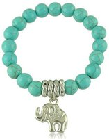 Wholesale Classic charms Bracelets Ethnic Turquoise with Tibetan Silver Elephant Bracelets for Women infinity Jewelry