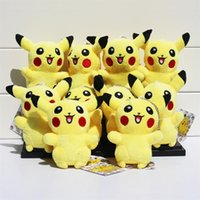 Movies & TV anime rings - Anime Cartoon Poke Pikachu Plush Toys Dolls with Ring Soft Stuffed Dolls cm