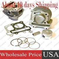 Wholesale sets a Cylinder Kit with Cylinder Head Assy for GY6 cc mm Big Bore Kit QMB QMA Moped Scooter mm valves