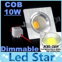 aluminum angle - Silver Aluminum COB W Dimmable Led Downlights Square Recessed Down Lights Angle LM Warm Natrual Cold White AC85 V CE UL SAA CSA