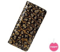 skull purses - Leather Wallets Skull Designer Purses metallic zip around wallet skull wallet skull purse skull clutch skullhandbags rock wallet