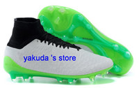 Wholesale Drop Shipping Accepted Magista Obra FG White Poison Green Black Total Orange Discount Soccer Shoes Cheap Cleats Ronaldo Shoes