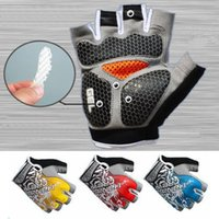 Men bicycle half finger gloves xs - P0470 New High Quality Cycling Bike Bicycle glove Hexagon D GEL Shockproof Sports Half Finger Glove blue red yellow Size M L XL