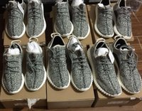 bags sneakers - With Original Box Receipt Shopping Bag Top Quality Kanye West Turtle Dove Grey Boost Classic Men Running Shoes Sneakers Size