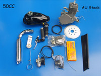 Wholesale STOCK IN USA cc Bike Bicycle Motorized Stroke Cycle Silver Motor Chrome Engine Kit